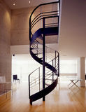 Stairs. Classic spiral stairs in a minimalist appartement Stock Photo