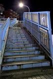 Stairs. Climb the stairs of the bridge Stock Photo
