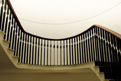 Stairs. A part of stairs inside building as still life royalty free stock image