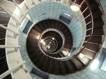 Stairs. Inside the lighthouse 'de la coubre', france Royalty Free Stock Images