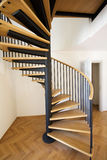 Stairs. New wooden stairs in bright interior Royalty Free Stock Image
