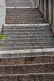 Stairs. Old stairs with focus on the first steps Stock Photography