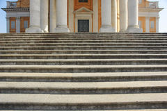 Stairs. The big staircase of a church Stock Images