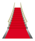 Stairs. Red carpet lying on stairs Royalty Free Stock Photography