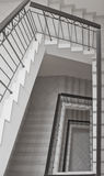 Stairs. Staircase original decor, white and elegance Stock Image