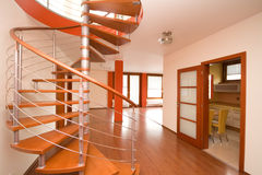 Stairs. New modern interior with round stairs Stock Image