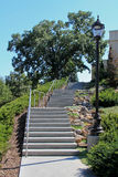 Stairs. Image of a 3 flights of concrete outdoor stairs Royalty Free Stock Photos