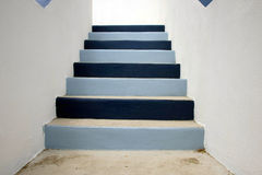 Stairs. Blue and white mexican stairs royalty free stock images