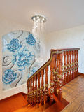 Stairs. In a chinese-style home royalty free stock photography