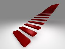 Stairs. 3D rendered stairs on the neutral background. XXL Royalty Free Stock Image