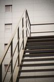 Stairs. In the courtyard building , gray , old Royalty Free Stock Photography