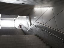 Stairs. From underground passage with many steps Stock Photo
