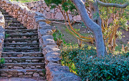 Stairs. Made of stones in a garden Royalty Free Stock Image