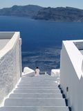 Stairs. Santorini architecture-stairs Stock Photo