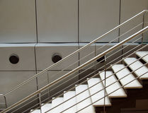 Stairs. Details of metal staircase with banisters Stock Photography