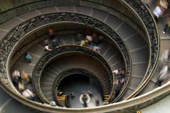 Stairs. To the exit of Vatican Museums royalty free stock photo