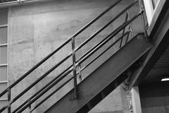 Stairs. Metal stairs to the second floor royalty free stock photo