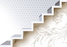 Stairs. 3d Stair, over white surface Stock Photo