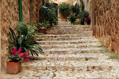 Stairs. Stone stairs, particular made in Mallorca, Spain royalty free stock photography