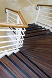 Stairs. Wooden and metal stairwell on ship stock photography