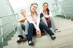 On stairs Royalty Free Stock Photography