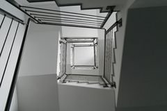 Stairs. In an Office Building in Frankfurt am Main Germany Stock Photo