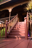 The stairs. Old wooden stairs that represent an old, yet stil living, culture Royalty Free Stock Photography