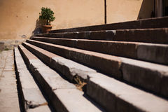 Stairs. Close Up of Old Stairs Outside a Building Stock Photo