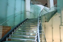 Stairs. Glass stairs Stock Image