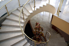 Stairs. A marble spiral stair is in an interior Stock Images