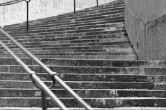 Stairs. Black and white ancient stone stairs Royalty Free Stock Photos