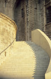Stairs. Of the Papal Palace in Avignon, France in shadow and light Royalty Free Stock Images