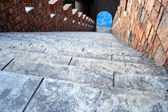 Stairs. Part of the castle Royalty Free Stock Images