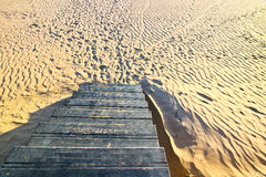 Stairs. Stair to the beach in Africa Stock Images