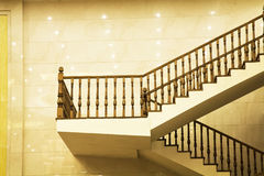 Stairs. Modern Marble Stairs in hotel Stock Photo