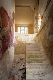 Stairs in abandoned house Royalty Free Stock Photos