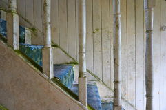 Stairs abandoned old house. Stairs detail in abandoned old house in ireland Royalty Free Stock Images