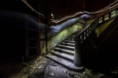 Stairs. In abandoned sanatorium. Latvia Royalty Free Stock Photos