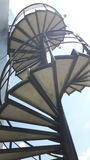 Stairs. Abstract spiral stairs stock photography