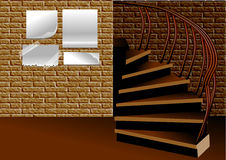 Stairs and advertisement Stock Image