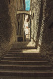 Stairs and alley in Assisi. Stairs and alley of Assisi Royalty Free Stock Photo