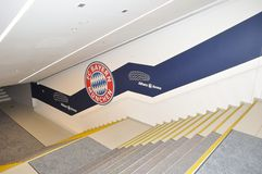 Stairs in Allianz Arena in Munich, Germany Stock Photography