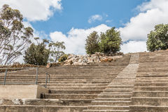 Stairs and Amphitheater Seating at Mt. Helix Park Royalty Free Stock Photography