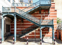 Stairs in Apothecary Street in London Royalty Free Stock Photography