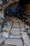Stairs Through Arch Rock. On trail to Alum Cave Stock Photos