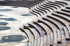 Stairs Architectural background, flat and circular stairs Royalty Free Stock Images