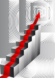 Stairs with an arrow Stock Photo