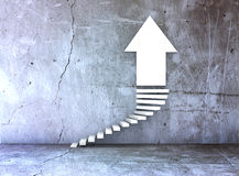 Stairs and arrow for business growth and challenge Stock Image