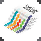 Stairs Arrow Infographic. Vector isometric illustration of stairs arrow infographic design element Stock Photography