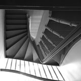 The stairs. Artistic look in black and white. Royalty Free Stock Images